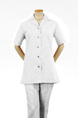 Women's White Short Sleeve Housekeeping Tunic Top