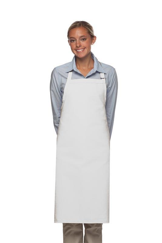 White Deluxe Butcher Adjustable Apron (No Pockets)