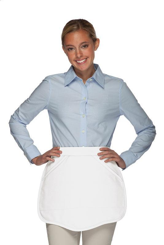 White Scalloped Waist Apron