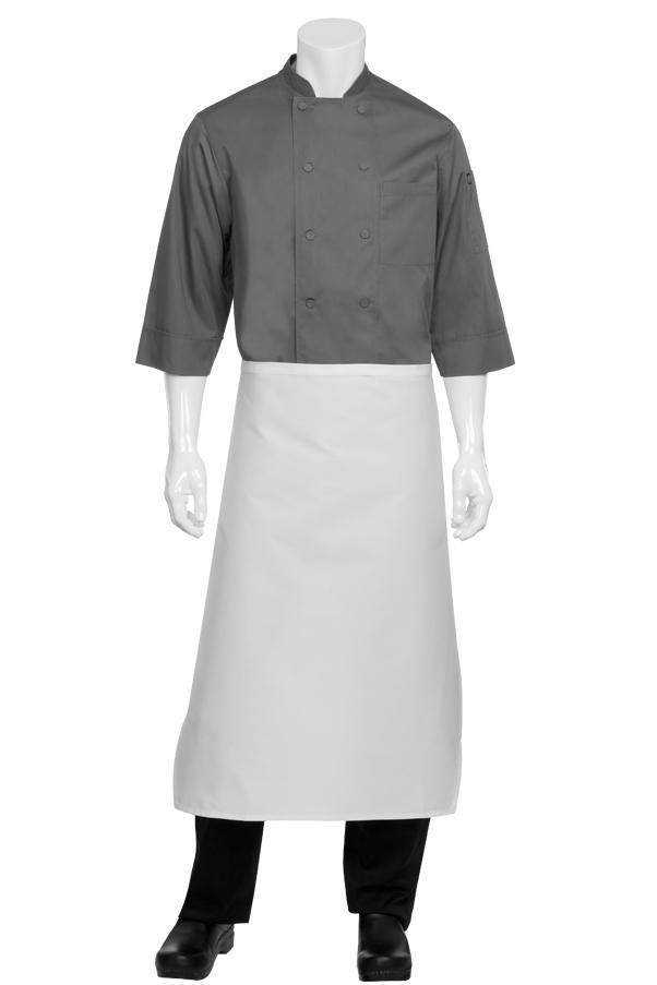 Tapered White Bistro Apron