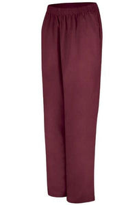 Burgundy Women's Easy Wear Poplin Slacks