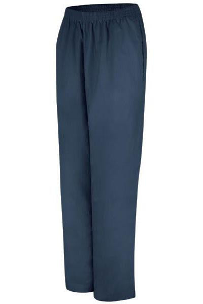 Navy Women's Easy Wear Poplin Slacks
