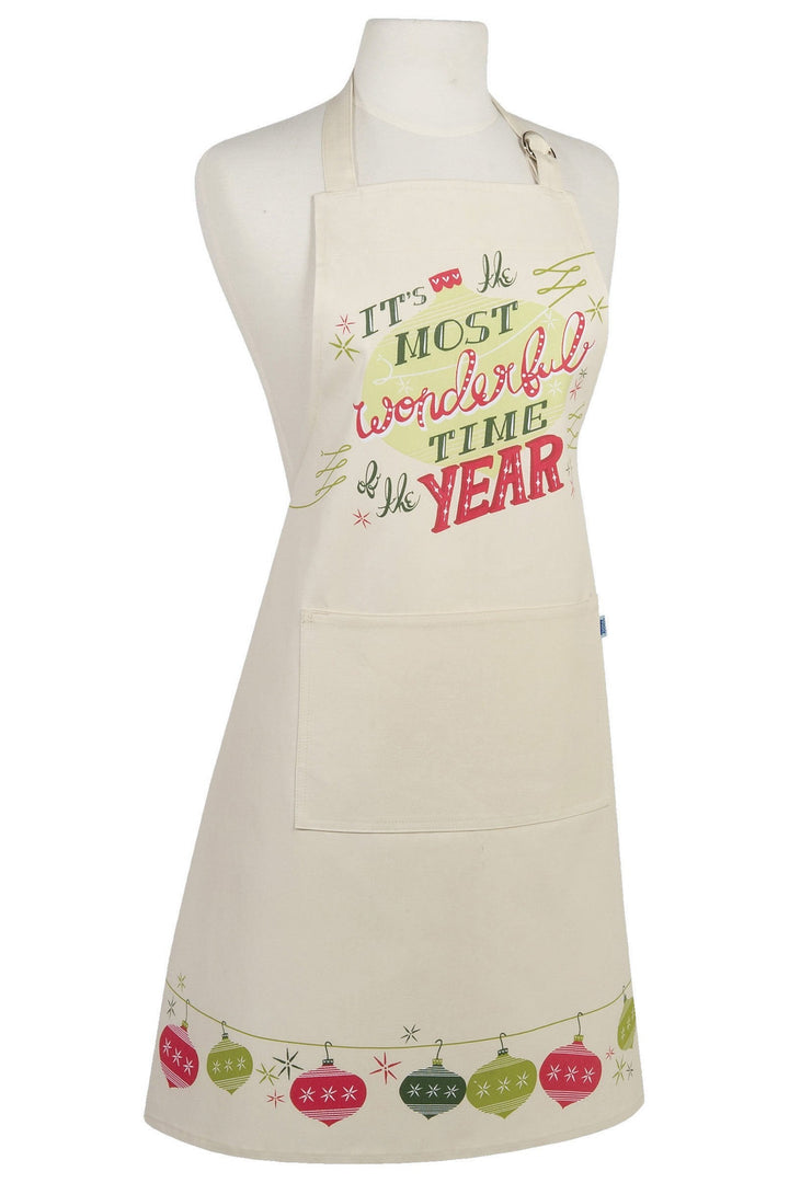Wonderful Time Christmas Modern Apron