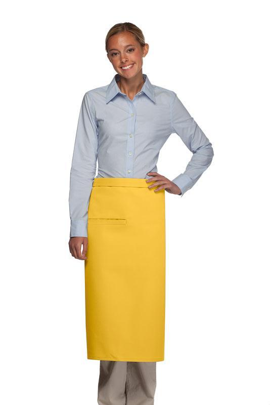 Yellow Full Bistro Apron (1 Inset Pocket)