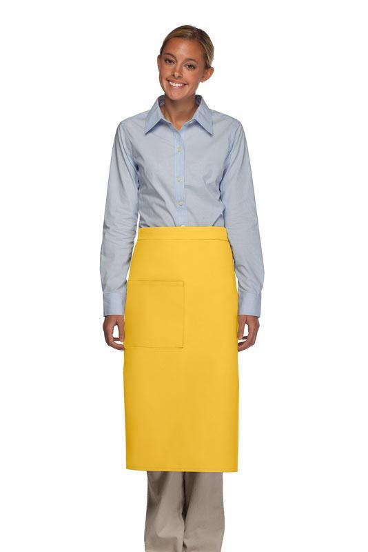 Yellow 1 Pocket Full Bistro Apron