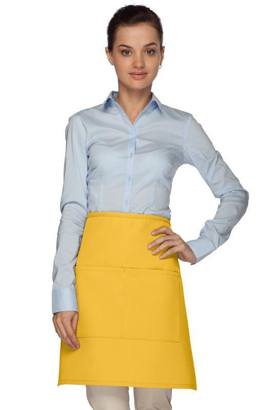 Yellow Half Bistro Apron (2 Pockets)