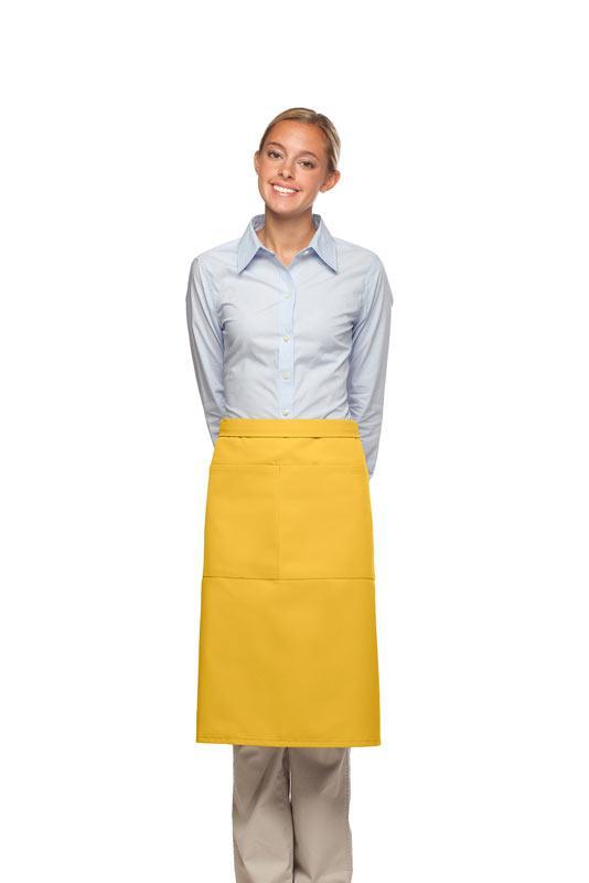 Yellow 2 Pocket Three Quarter Bistro Apron