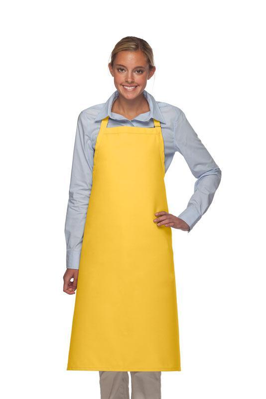 Yellow No Pocket Adjustable XL Butcher Apron