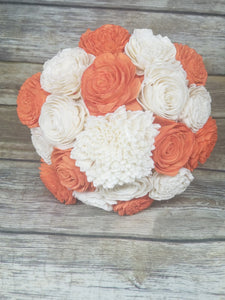 PRE-MADE BOUQUET - Raw with Orange Flowers