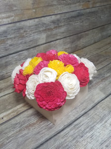 Pre-Made Centerpiece -  Raw/Red/Pink/Yellow