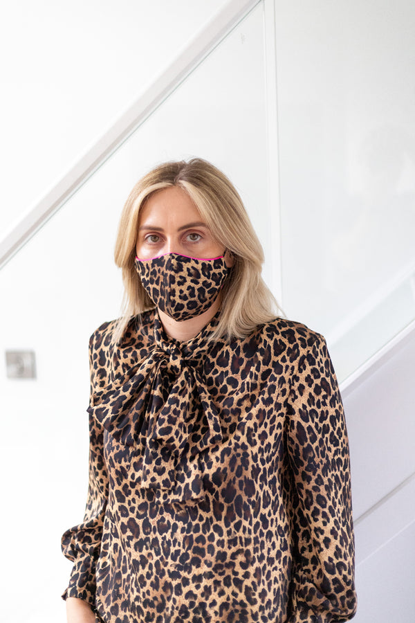 'Ashley' Leopard Face Mask