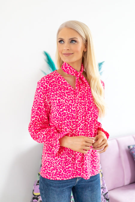 Lauren pink printed blouse