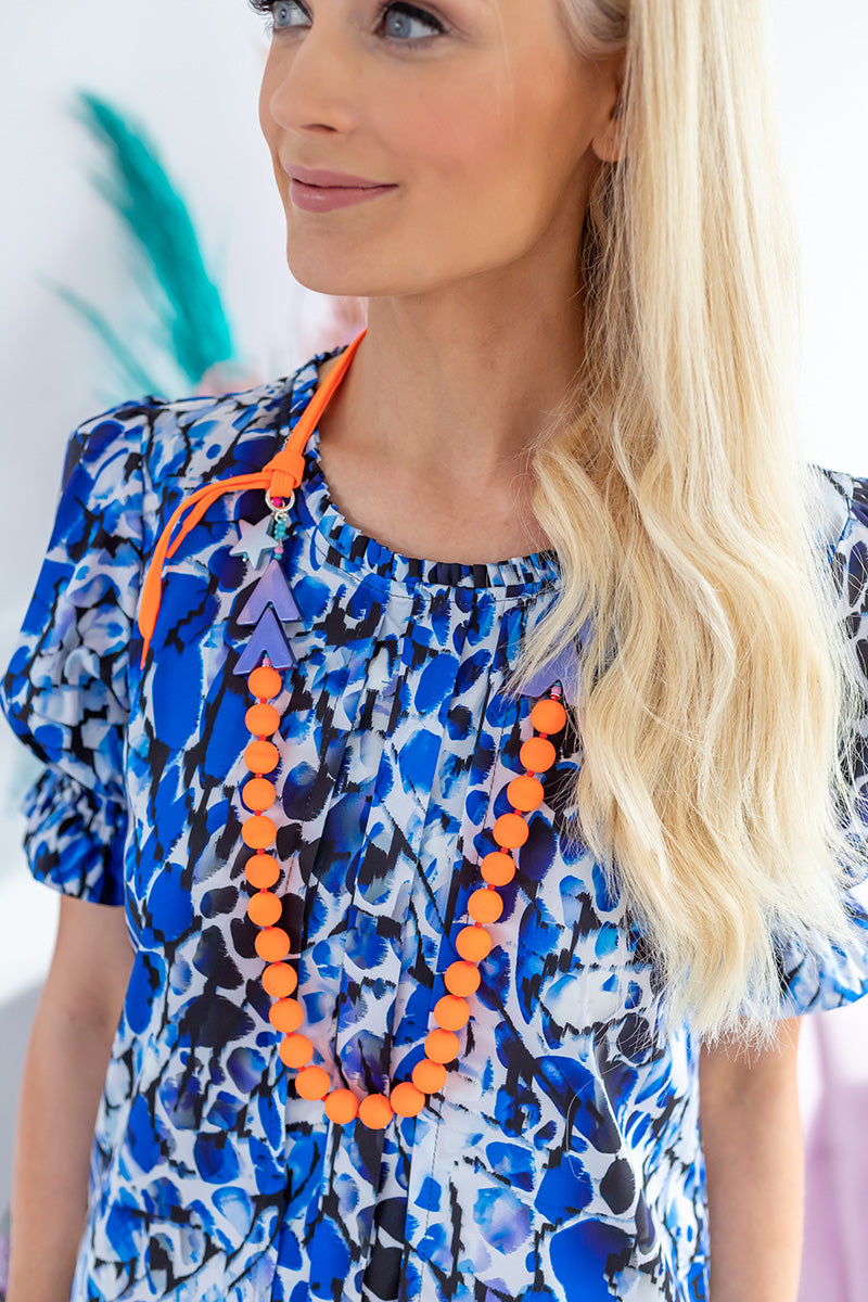 Savannah blue printed top
