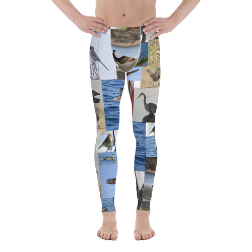 Bird Print Men's Leggings
