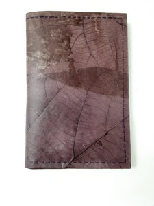 Teak Leaf Leather notebook small