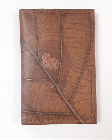 Image of Teak Leaf Leather notebook small