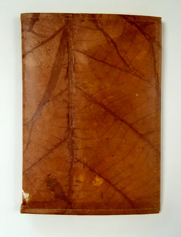 Teak Leaf Leather notebook large
