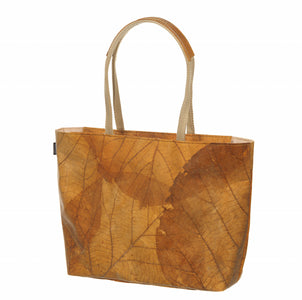 Vegan Leaf Leather Tote(Small)