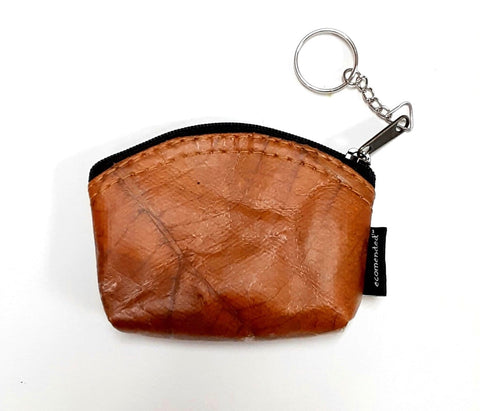 Teak Leaf Leather coin purse XS