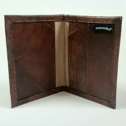 Bifold Card Holder-Leaf Leather - Ecomended