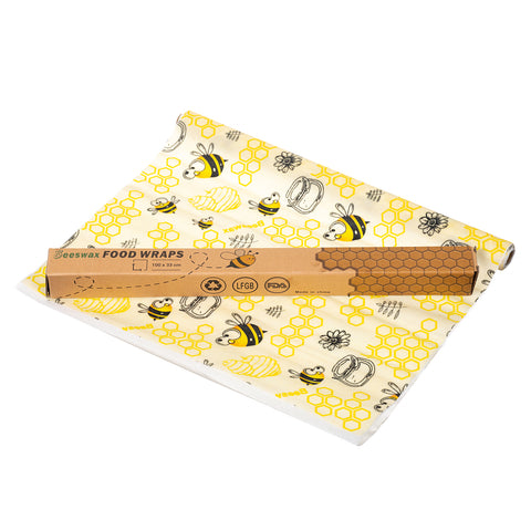 Reusable wax food wrap rolls