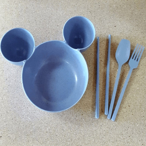 Wheat Straw Fiber Kid's Mouse Dish - Ecomended