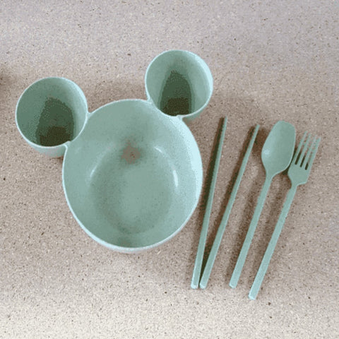 Image of Wheat Straw Fiber Kid's Mouse Dish - Ecomended
