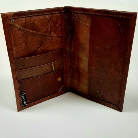 Image of Vegan Leaf Leather Passport Holder - Ecomended