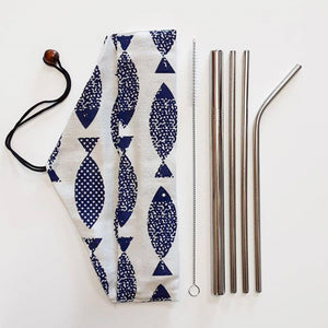 Reusable stainless steel straw set with pouch - ecomended - 7
