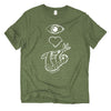 Eye Heart Sloth fair trade tee