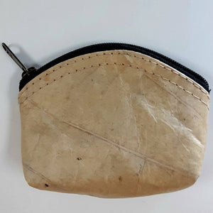 Teak Leaf Leather coin purse XS - ecomended - 2