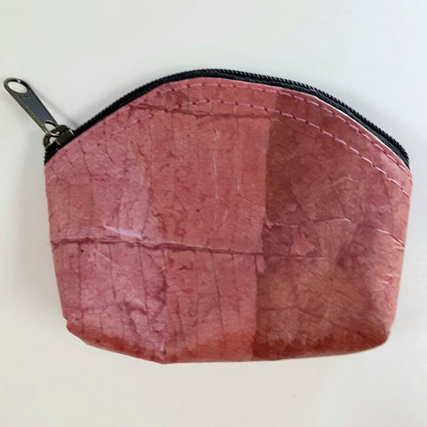 Image of Teak Leaf Leather coin purse XS - ecomended - 5