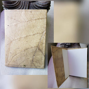 Teak Leaf Leather notebook large - ecomended - 1