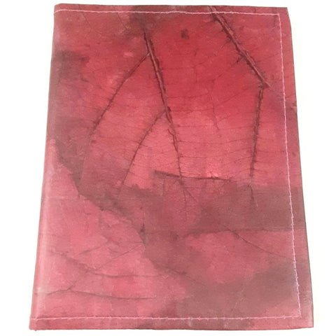 Image of Teak Leaf Leather notebook large - ecomended - 3