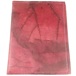 Teak Leaf Leather notebook large - ecomended - 3