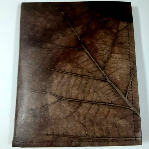 Image of Teak Leaf Leather notebook large - ecomended - 5