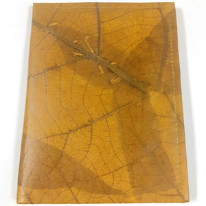Teak Leaf Leather notebook large - Ecomended