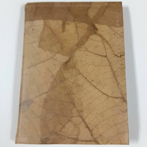 Image of Teak Leaf Leather notebook small - ecomended - 5