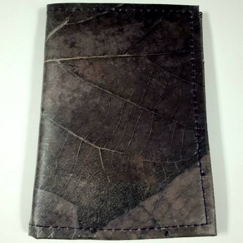 Teak Leaf Leather notebook small - Ecomended