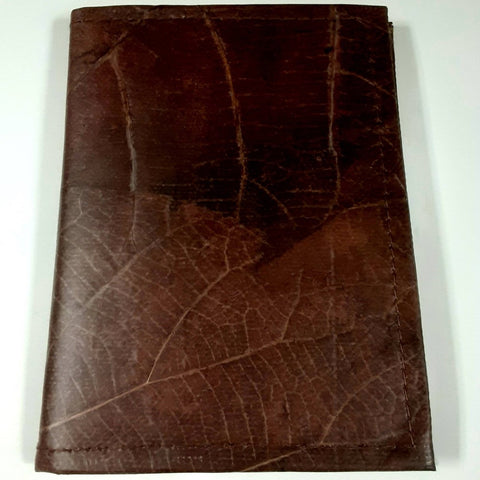 Image of Teak Leaf Leather notebook small - ecomended - 9