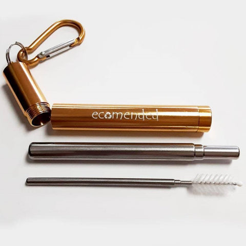 Image of Telescoping Straw w/Carabiner - Ecomended