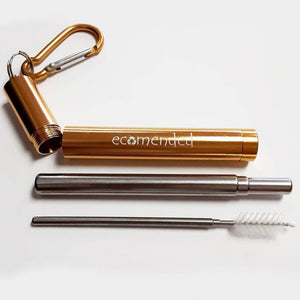 Telescoping Straw w/Carabiner - Ecomended