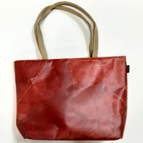 Image of Vegan Leaf Leather Tote(Small) - Ecomended