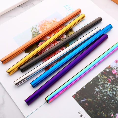 BOBA Straw with cleaning brush - 6 colors in stock