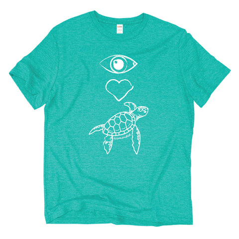 Image of Eye Heart Sea Turtle fair trade tee