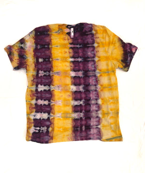Purple & Gold Ice Dye T-Shirts - Kids & Adults