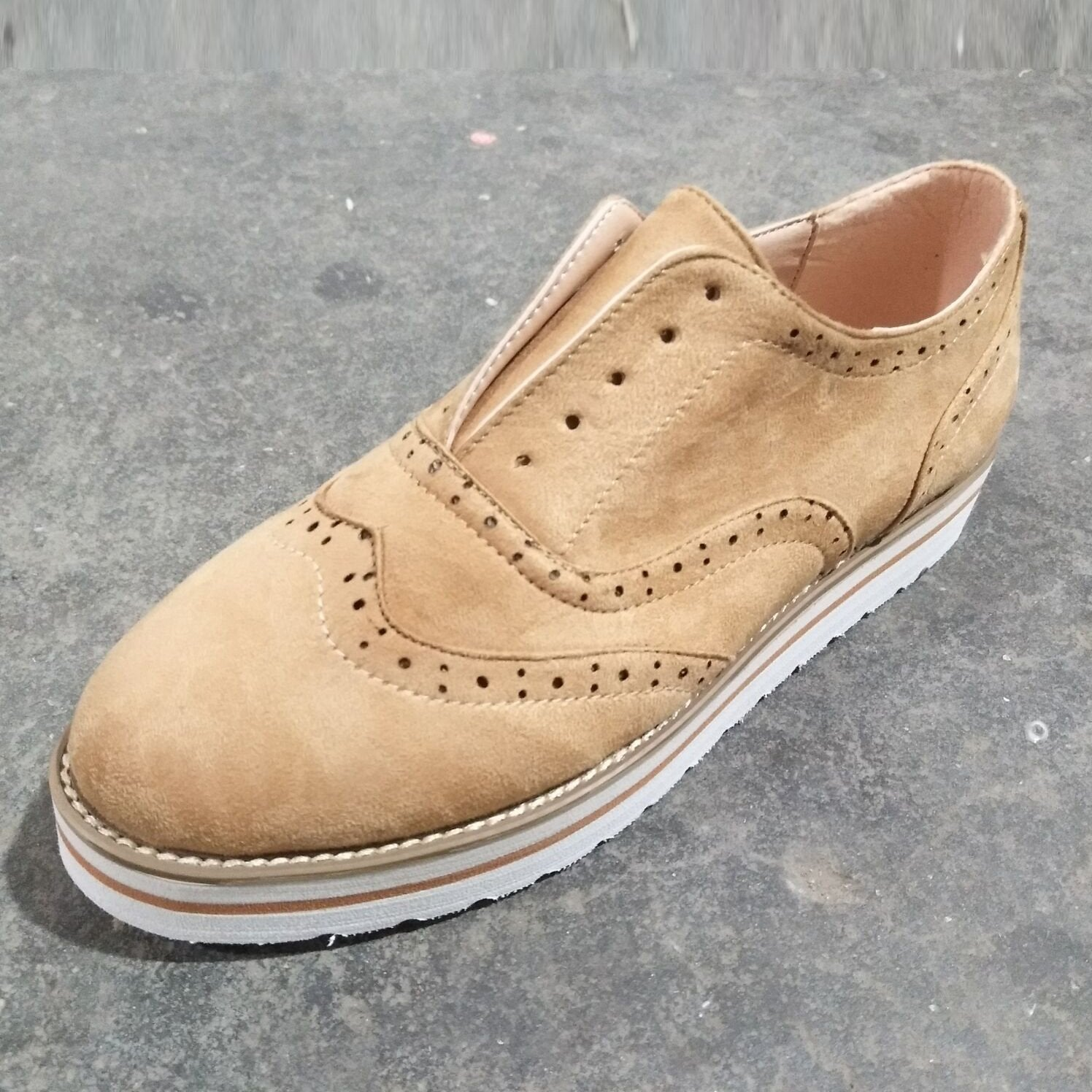 740a5eb91e ... Load image into Gallery viewer, Large Size Women Comfort Low Heel Lace-Up  Daily