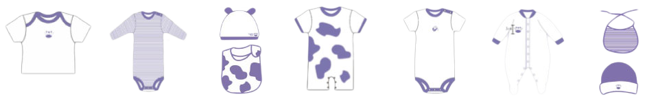 Miniature Milk Clothing Range