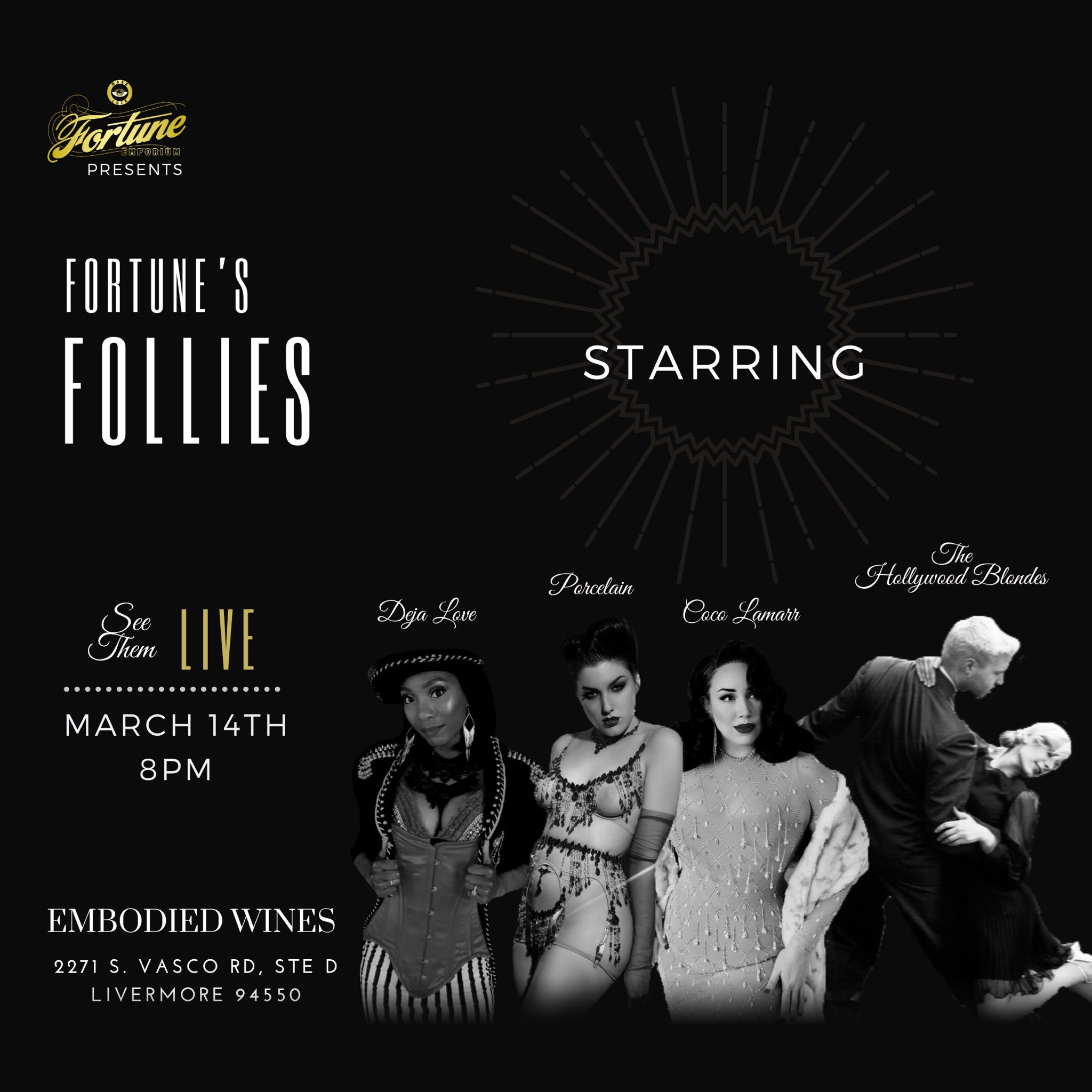 Fortune's Follies: A 1940's Variety Show is coming to Livermore!