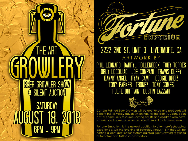The Art Growlery: Charity Art Show at Fortune Emporium